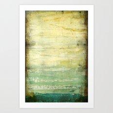 la vague émeraude Art Print