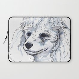Poodle (portrait for my mom), watercolor Laptop Sleeve