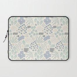 Vintage Blue Bonnet Floral Pattern Laptop Sleeve