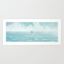 The Antlered Ship - Title Page Art Print