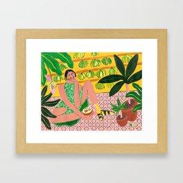 She who loves summer Framed Art Print