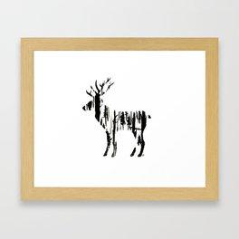 Stag silhouette Framed Art Print