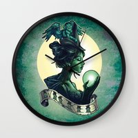 wicked Wall Clocks featuring WICKED by Tim Shumate