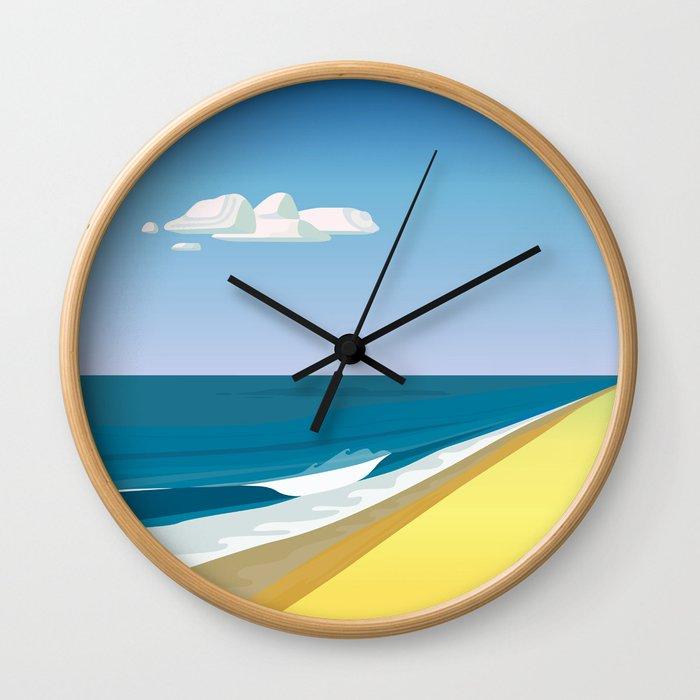 Rothko at the Beach Wall Clock