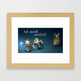 The Doctor and Rose Framed Art Print