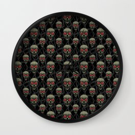 Skulls Motif Pattern Wall Clock