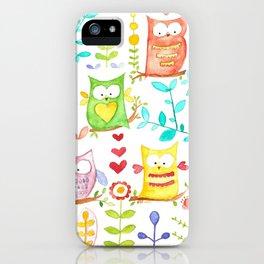 happy owl day iPhone Case