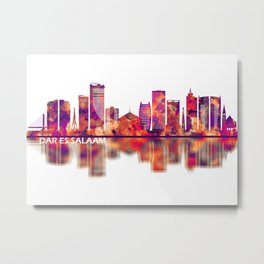 Dar es Salaam Tanzania Skyline Metal Print