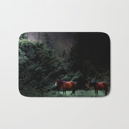 Enniskerry Horses Irish Ireland Romantic Horse Print Bath Mat