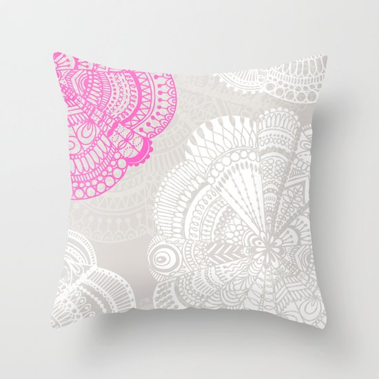 Throw Pillow Doodle : Doodle Doiley Throw Pillow by Katy Clemmans Society6