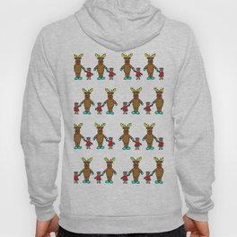 Cute christmas buddies pattern Hoody