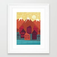 mountains Framed Art Prints featuring Mountains by Kakel