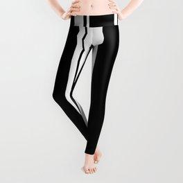 Black and white stripes 3 Leggings