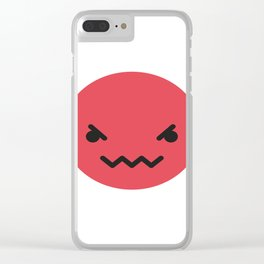 Emojis: Angry Clear iPhone Case
