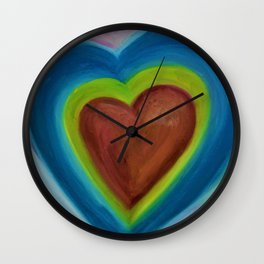 AN Expanding Heart Wall Clock