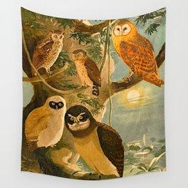 Album de aves amazonicas - Emil August Göldi - 1900 Amazon Animals Exotic Owls Wall Tapestry