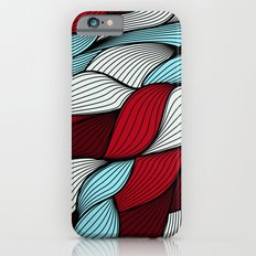 Red blue knit iPhone 6s Slim Case
