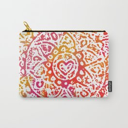 Heart Flower Orange Carry-All Pouch