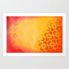 Firery Flowering Art Print