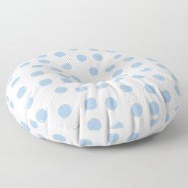 Pale Blue Round Brush Strokes Pattern Floor Pillow