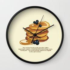 Fluffy Pancakes Wall Clock