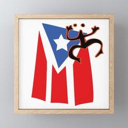 Mi bandera, Puerto Rico Framed Mini Art Print