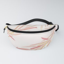 Eucalyptus Leaves Pink Fanny Pack