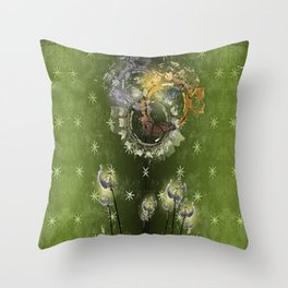 Vintage Butterfly 6 Throw Pillow