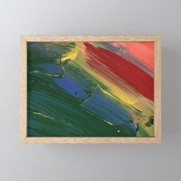 Rainbow Junk mail Framed Mini Art Print