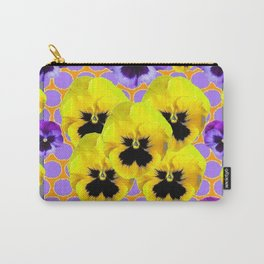 YELLOW & PURPLE SPRING PANSIES ART Carry-All Pouch
