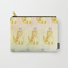 Watercolor Orange Cat Carry-All Pouch
