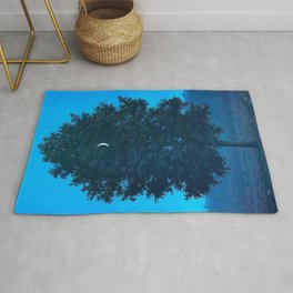 Rene Magritte - Le Seize Septembre - 1956 Moon Through Tree Surrealism Rug