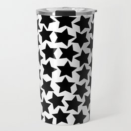 Lots of Black Stars Travel Mug