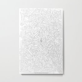 The Lego Movie —Colouring Book Version Metal Print