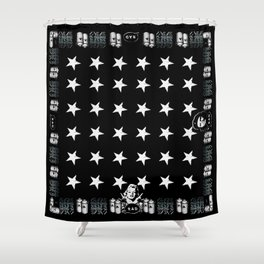 RAD STARS, GRAFFITIS and SPRAY CANS Shower Curtain