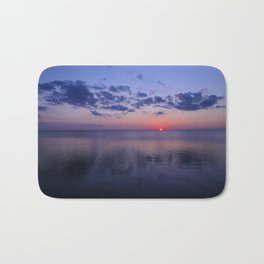 Dead Calm Sunset on the Sound Bath Mat