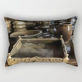 Handcrafted Tin And Copper Kitchenwares Rectangular Pillow