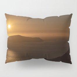 Golden Hour in Santorini Pillow Sham