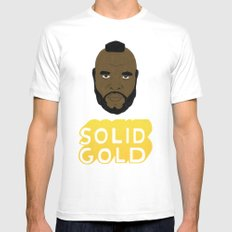 Solid Gold White Mens Fitted Tee MEDIUM