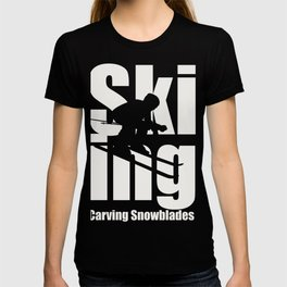 Sking ist das wahre leben T-shirt