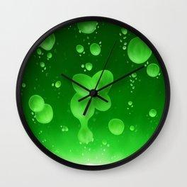 Lava Lamp Green Wall Clock