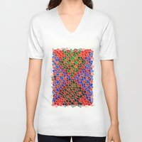 glass V-neck T-shirts featuring Glass by Sproot