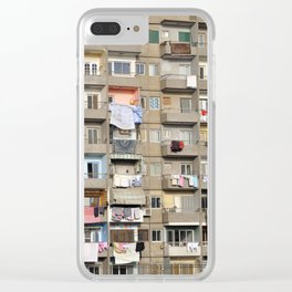 Balconies of Apartment Block, Cairo Clear iPhone Case