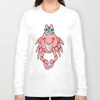 crab Long Sleeve T-shirts featuring Cheerful Crab by J&C Creations