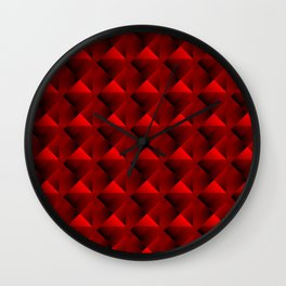 Optical pigtail rhombuses from red squares in the dark. Wall Clock