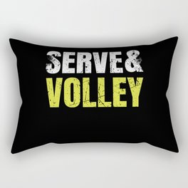 Serve and Volley Funny Tennis Player Gift Rectangular Pillow