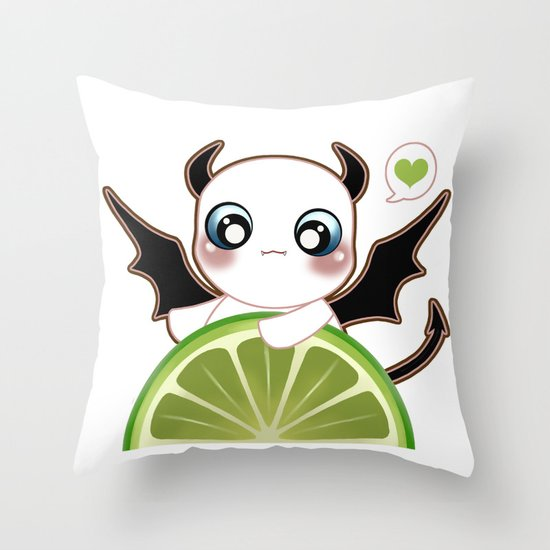 Kawaii Monster  Throw Pillow