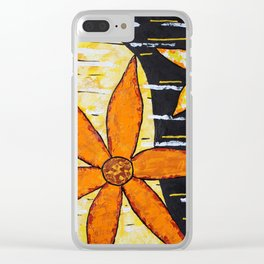 Flower Time Clear iPhone Case