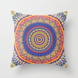 Festive Mandala Throw Pillow