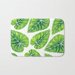 Tropical leaves Bath Mat